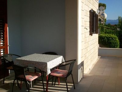 Photo for One bedroom apartment with terrace Postira (Brač)