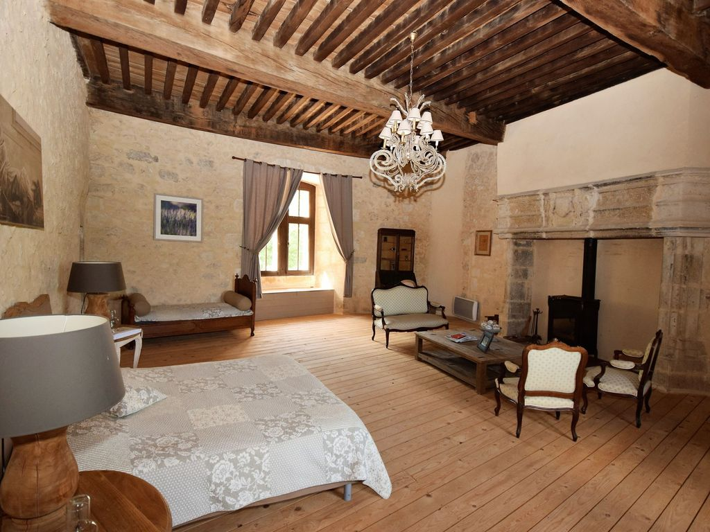 main chateau from the 12th century pont du casse. Black Bedroom Furniture Sets. Home Design Ideas