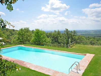 Photo for Beautiful apartment for 2 guests with pool, WIFI, pets allowed, panoramic view and parking