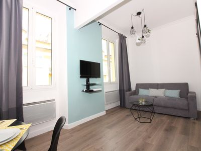Photo for Bright modern apartment in the center of Nice