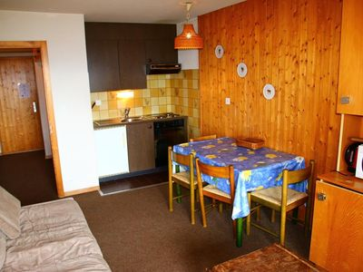 Photo for A simple 1* studio for 2-4 people located at about 800m from the ski lift in a calm and sunny enviro