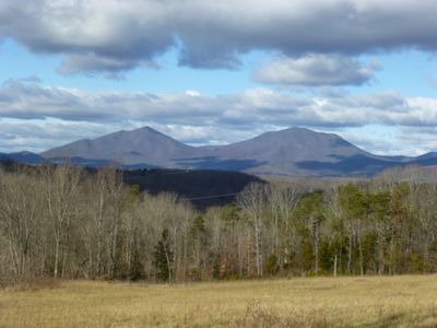 Views of the the beautiful Peaks of Otter can be seen throughout the farm.