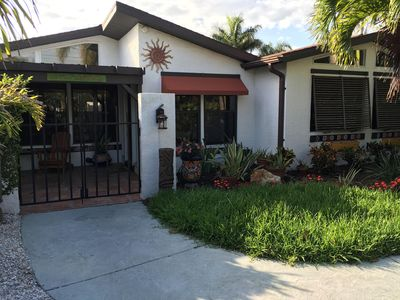 Photo for Siesta Key Palm Island Canal-Front House Walk to Beach