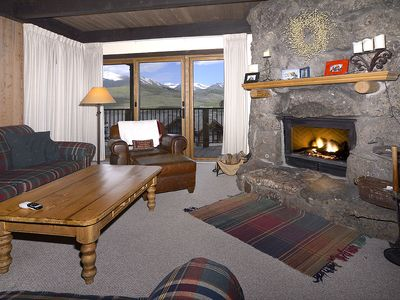 Photo for Large Slopeside Condo, Extensive Remodel, Balcony w/ Mountain Views