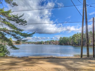 Photo for Silver Lake home that sleeps 12.  Sandy beach right across the private road.