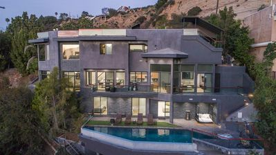 Photo for Best Modern Beverly Hills Estate, canyon views, Infiniti Pool, sauna ,Theater