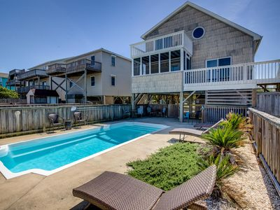Photo for Splash and Go | 1135 ft from the beach | Private Pool, Hot Tub | Nags Head