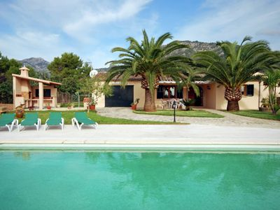 Photo for Country house with pool overlooking the mountains of the Sierra de Tramuntana