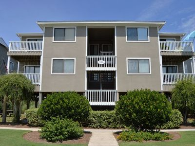 Photo for WL 10-2 Small condo, near lagoon, perfect location for capturing those Carolina sunsets.