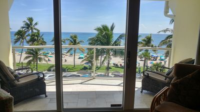 Photo for BEACH FRONT HAVEN – Ocean View Condo, Deerfield Beach the best of South Florida