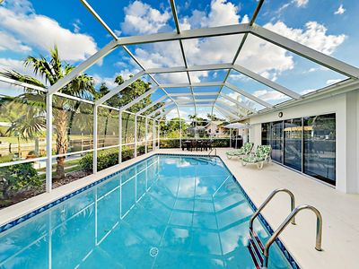 Pool - Welcome to Cape Coral! Enjoy your own private heated pool on this screened lanai.