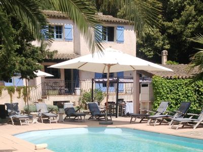 Photo for Villa with guest accommodation and heated pool in Sainte Maxime