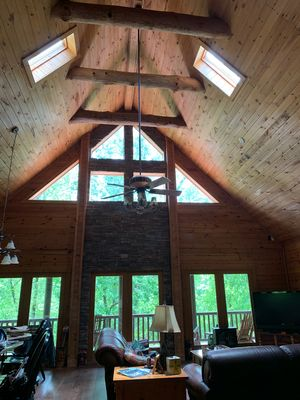 Photo for Lake Front Beautiful & Relaxing Log Home-Family-friendly Getaway, Winter Special