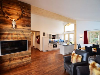 Photo for Alpine Chalet - 1 living room, 2 bedrooms, shower / WC - Fontain's Hus