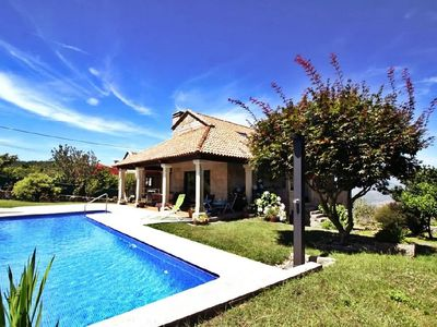 Photo for Beautiful stone house for 10 people with 10x5 pool and covered barbecue