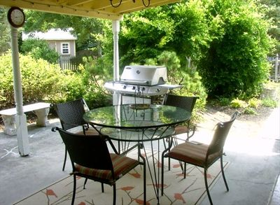 Covered Patio with gated area