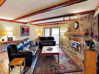 Photo for New Listing! Mountain Marvel w/ Fireplace & Luxe Clubhouse Amenities