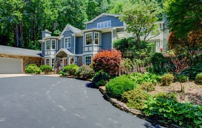 Photo for Mills Gap Lodge; close to Asheville!  Hot tub, Game Rm, fire-pit & family friendly! Ultimate vaca...