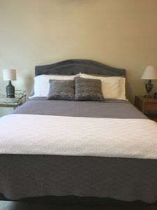 Super comfy queen bed in master bedroom located on main level.