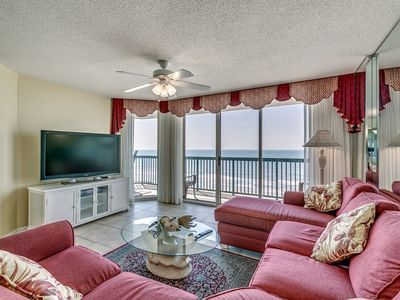Photo for AshWorth 708, 3 Bedroom Beachfront Condo, Hot Tub and Free Wi-Fi!