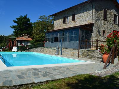 Photo for Cosy apartment for 4 people with pool, TV, pets allowed and parking