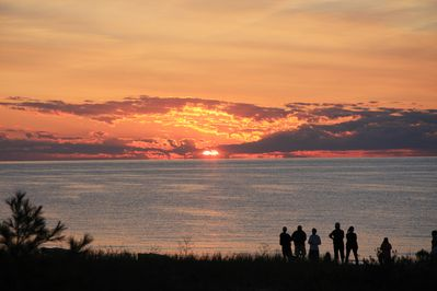Spectacular sunsets all year round at South Beach at Homestead in Glen Arbor