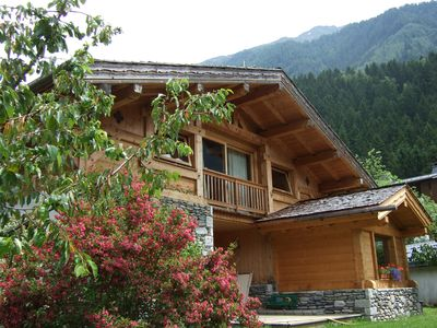 Photo for Beautiful chalet in Chamonix in a quiet, garden full south, beautiful view.