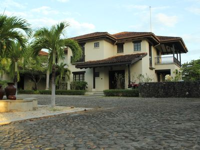 The front view of the Villa.