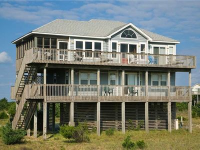 Photo for Exceptional Oceanfront View Salvo w/Hot Tub, Screened Porch, WiFi, Walk to Beach