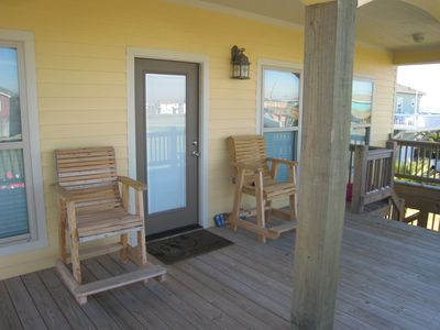 Relax on the deck and enjoy the breeze and view.