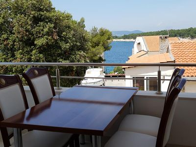Photo for Two bedroom apartment with terrace and sea view Bilo, Primošten (A-14601-b)