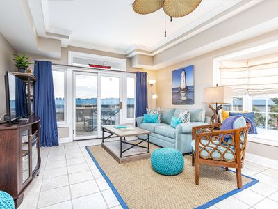 Photo for North Tybee Spacious Top Floor Condo with Private Balcony overlooking the Bay and Pool