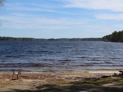 Photo for Sandy Beach Cottage - Cozy cottage with beach and lake views on Pemaquid Lake