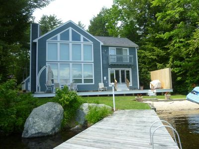 Photo for Meredith NH Winnipesaukee Waterfront with Sandy Beach and Dock that sleeps 14