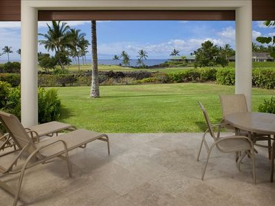 Our private lanai is a great place to relax and enjoy the view.