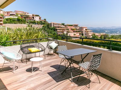 Photo for LUXURY APARTMENT - TERRACE WITH GREAT VIEW ON THE BAY OF CANNES