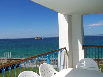 Photo for Exceptional location, 3 star apartment, sea view from all rooms