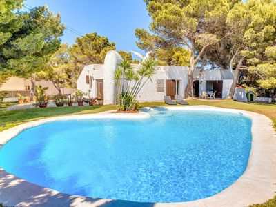 Photo for Spectacular Holiday Home with Pool, Ibizan Garden, Sun Terrace, Air Conditioning & Wi-Fi; Parking Available