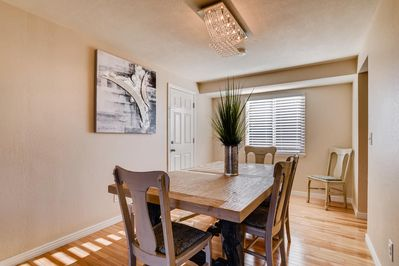 Dining room - table expands to seat 12
