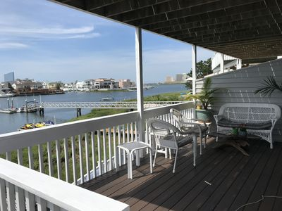 Photo for On the water townhome, private dock, amazing AC skyline