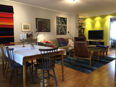 Photo for Bright & cozy apartment in a central & popular area next to main fairs & events