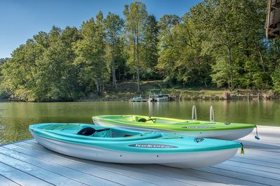 Kayaks available for guests