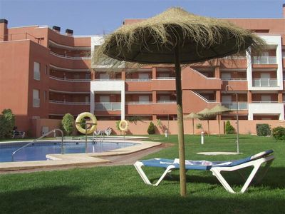 Photo for Luxury Holiday Apartment, Terrace, Pool Views, Air Conditioned, near to Beach