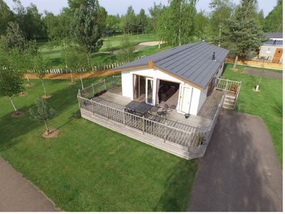 Photo for Family & pet friendly lodge set in picturesque golf and leisure estate with pool