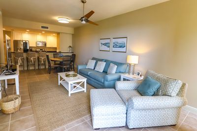 The living area for the unit is open concept and feels very spacious.