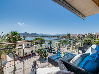 Photo for ☼ Modern apartment with sea views in the port of Alcudia