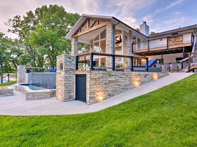 Photo for Escape the City! - Luxury Home w/Dock+Infinity Pool on Grand Lake