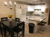 Nice layout, older furniture, old small bathroom, no washer, no dryer