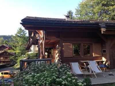 Photo for Brand new chalet, 656 ft away from runs, 10 min walk from La Clusaz centre