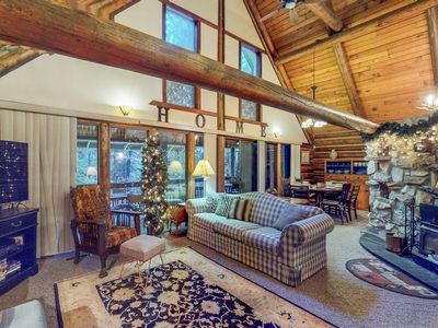 Photo for NEW LISTING! Dog-friendly log cabin w/deck, sauna & nearby river access